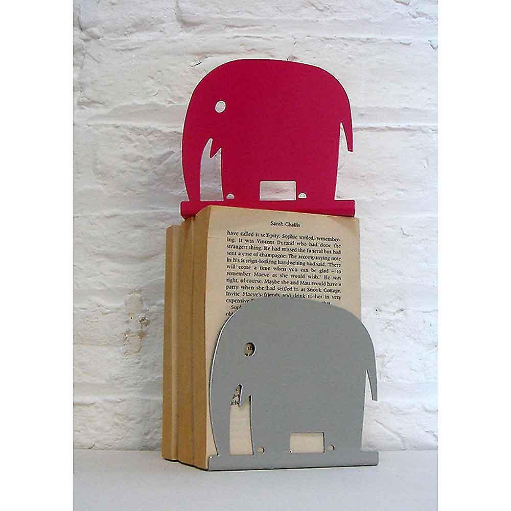 Rosa Elefant Tier Buchstütze von Susan Bradley