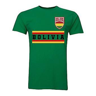 Bolivie Core Football pays T-Shirt (vert)