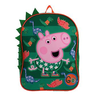 Peppa Pig George Dinosaurs 3D GO Green Children's Backpack