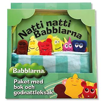 Babblarna, package with book and Good Night Toy