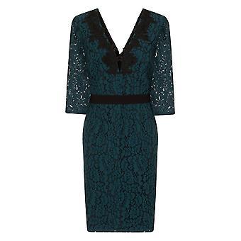Kleine Meesteres Womens/dames Lace stoffen Bodycon jurk