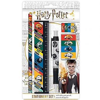 Harry Potter 5pc Stationery Set Houses
