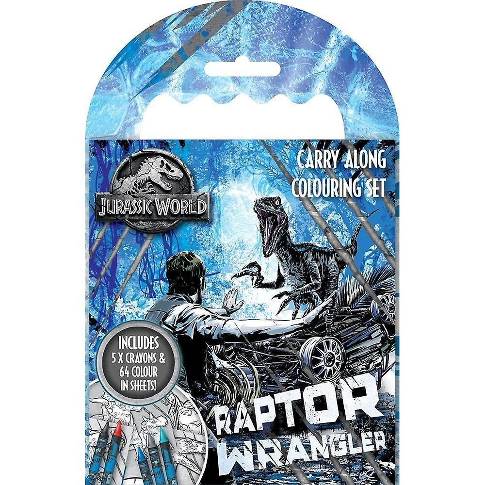 Jurassic World Carry Along Colouring Activity Pack Set
