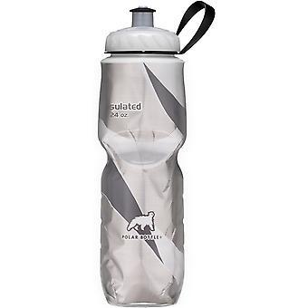 Butelkę Polar Sport izolowane 24 uncji butelkę wody - czarny wzór