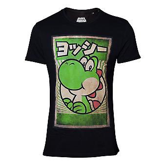 Super Mario propaganda Yoshi T-skjorte mannlig liten svart (TS160521NTN-S)