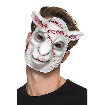 Evil Sheep Killer Mask White, Halloween Fancy Dress Accessories, One Size