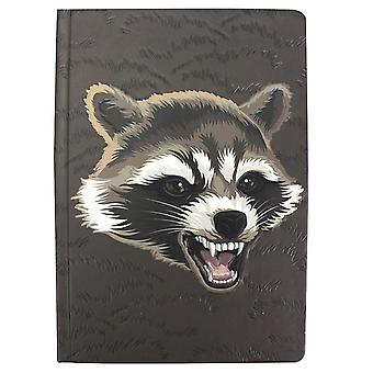 Guardiani del Galaxy Notebook Rocket Brown, A5 Hardcover, Bound, 240 pagine foderate.