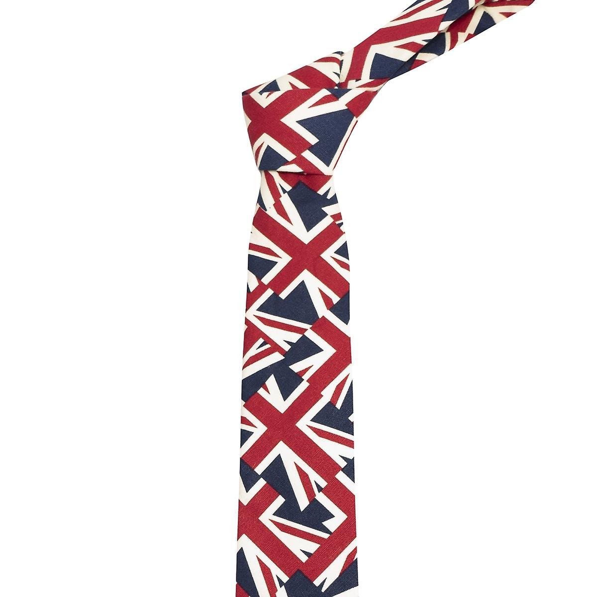 Union Jack Tie, Mens Neck Tie, Great Britain Tie