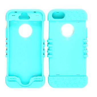 Unlimited Cellular Rocker Series Skin Case pour iPhone 5S (Fluorescent Blueish Green)