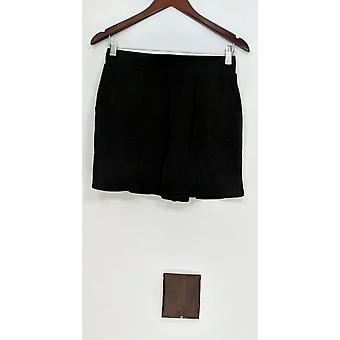 Anybody Women's Shorts Loungewear Cozy Knit w/ Pockets Black A306954