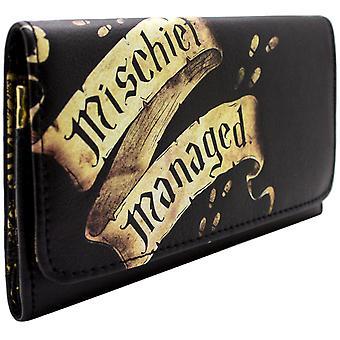 Warner Harry Potter Marauders Map Coin & Card TriFold Purse