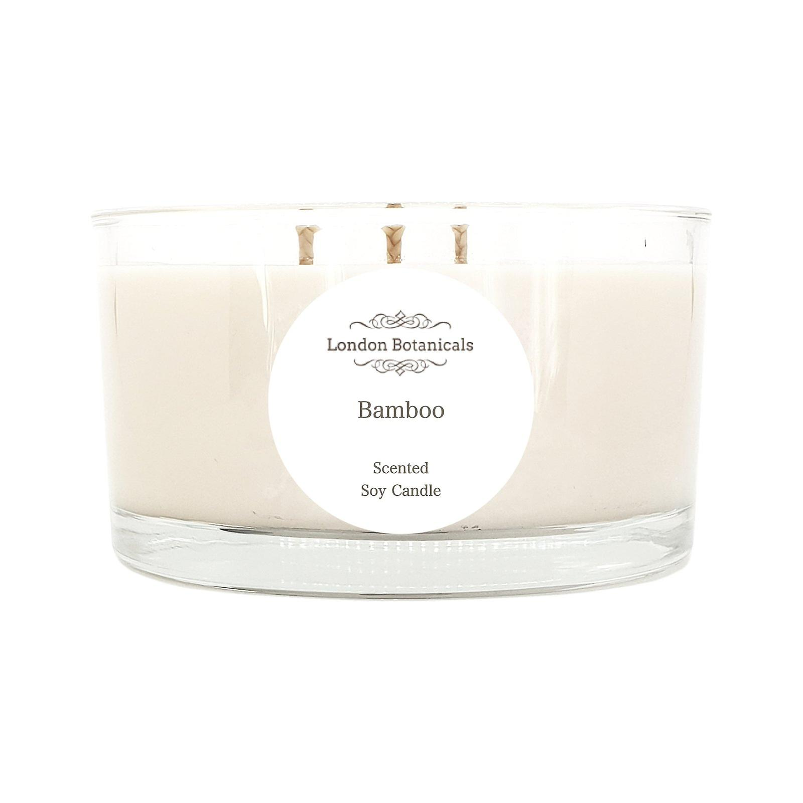 Bamboo 400g highly scented 100% soy candle