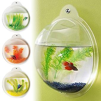 Modern Home Fish Bubble - Deluxe Acrylic Wall Mounted Fish Tank w/Bonuses