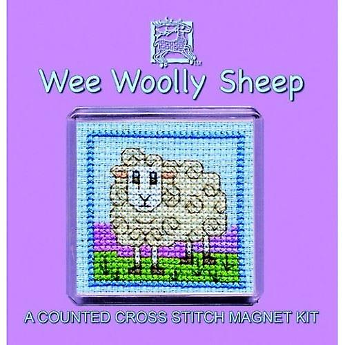 Textile Heritage Counted Cross Stitch Wee Woolly Sheep Fridge Magnet