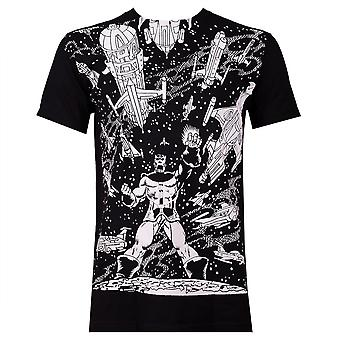 Thanos VS. Avaruus aluksia mustat miehet ' s T-paita