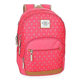 Pepe Jeans Carola Coral School Backpack Double Compartment - 44 cm