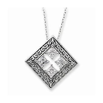 925 Sterling Silver Polerad Gåva Boxed Spring Ring finish CZ Cubic Zirconia Simulerade Diamond hörnstenar integritet