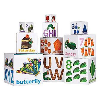Kids föredrog värld Eric Carle, den mycket hungriga Caterpillar stapling/häckande block