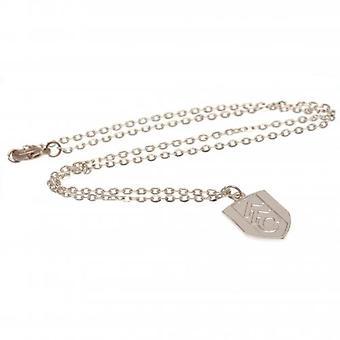 Fulham zilveren vergulde hanger & ketting