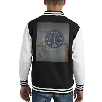 The Crystal Maze Rust Panel Kid's Varsity Jacket