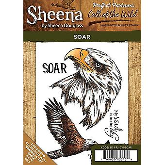 Sheena Douglass Perfect Partners Call of the Wild A6 Rubber Stamp Set - Soar