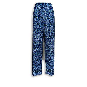 C. Wonder Women's Pants Engineered Floral Tile Print Blue A288830