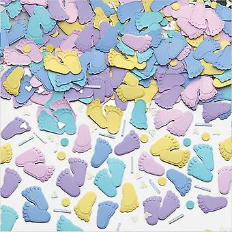 Amscan Pitter Patter Feet Embossed Metallic Confetti