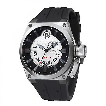 Ballast Silver & Black Valiant Swiss Made GMT Watch