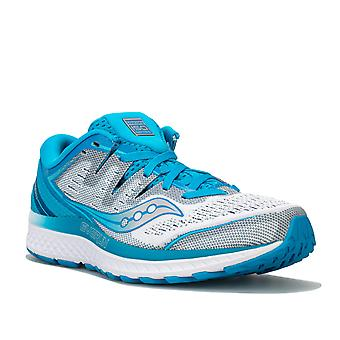Womens Saucony Guide Iso 2 Running Shoes In Blue