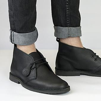 Popps Original Unisex Leather Desert Boots Black