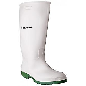 Dunlop Pricemastor Mens Wellington Boots White/green