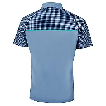 Callaway Mens Golf Houndstooth Chest Print Polo Shirt