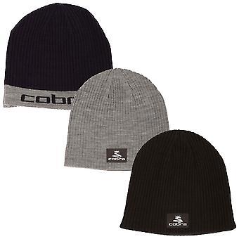 Cobra Golf Mens Reversible Knit Beanie Hat