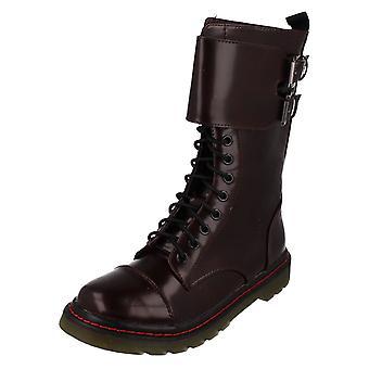 Girls Spot On Mid Calf Boots H5063