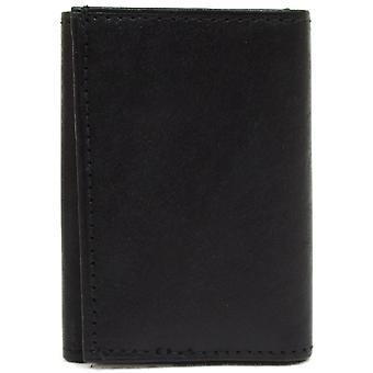 Mens Nappa Leather Tri-Fold Wallet avec 6 crochets clés