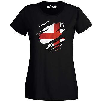 Frauen's zerrissen england t-shirt