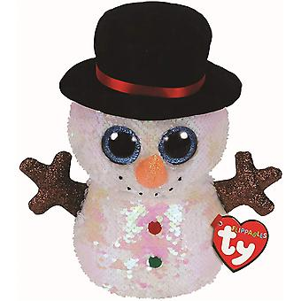 TY Flippable Sequins Melty The Snowman Medium