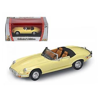 1971 Jaguar E Type Cabriolet Jaune 1/43 Diecast Model Car par Road Signature