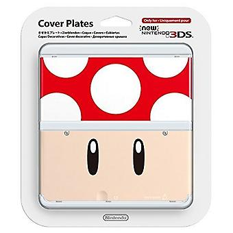Placa de portada oficial para New Nintendo 3DS-red Toad