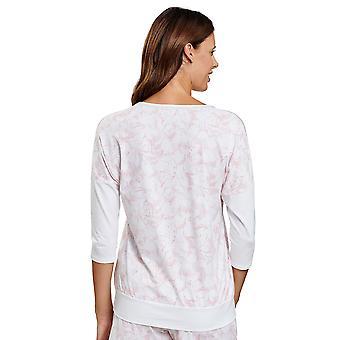 Rosch 1202032-16406 Women's Be Happy White Graphic Flower Pyjama Top