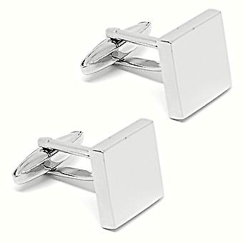 Plain square stainless steel wedding quality cuff links