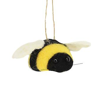 Single Felt Bumble Bee Hanging Decoration   Easter Trees & Ornaments