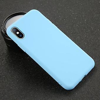 USLION iPhone 8 פלוס אולטרה-לים סיליקון מקרה TPU כיסוי מקרה כחול
