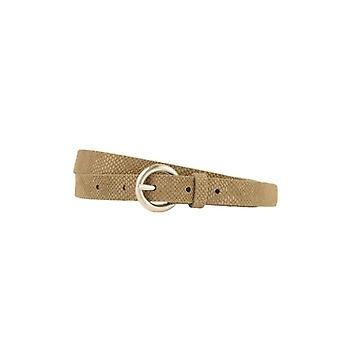Narrow Taupe Women's Belt With Snake Structure