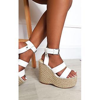IKRUSH Womens Bailey Espadrille Wedged Heels