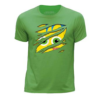 STUFF4 Chłopca okrągły dekolt Monster T-shirty-Shirt i dużych Rip/żółty/zielony