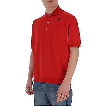 Marni Pomu0022l0s2276300r69 Men's Red Cotton Polo Shirt