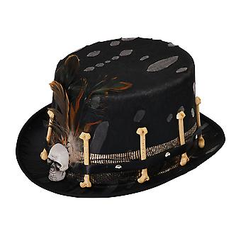 Bristol Novelty Unisex Voodoo Top Hat