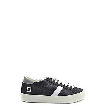 D.a.t.e. Ezbc177022 Women's Black Leather Sneakers