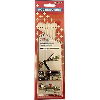 FASTECH® 801-010C Krok-og-sløyfe kabelbånd for bunting Krok- og sløyfepute (L x B) 200 mm x 7 mm Hvit 10 stk(er)
